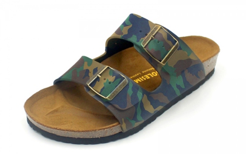 SoleSimple Athens - Leather Camouflage