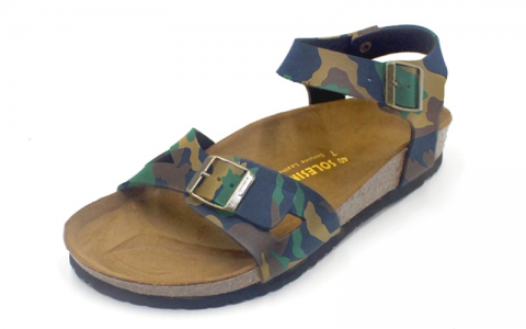 SoleSimple Naples - Leather Camouflage